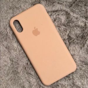 Apple iphone x/ax case - light pink